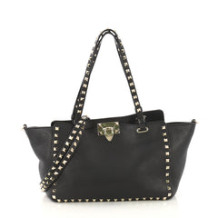 Valentino Rockstud Tote Pebbled Leather Small - Rebag