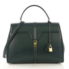 Celine 16 Handbag Smooth Calfskin Large Green 4169911
