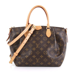 Louis Vuitton Turenne Handbag Monogram Canvas PM Brown 417001