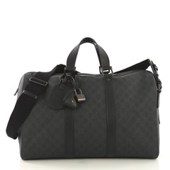Gucci Carry On Convertible Duffle Bag GG Coated Canvas 4170035