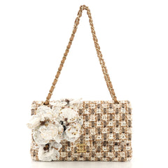 Chanel Flower Applique Classic Double Flap Bag Quilted 4170040