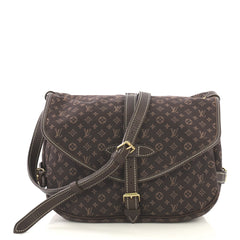 Louis Vuitton Saumur Handbag Mini Lin Brown 4170043