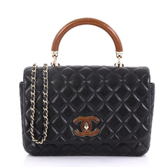 Chanel Knock on Wood Top Handle Bag Quilted Lambskin Mini 4170066