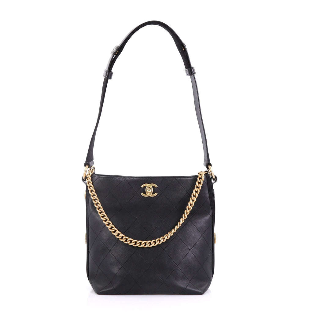 018ba8ca7bee Chanel Button Up Hobo Quilted Calfskin with Grosgrain Small 4170076 ...