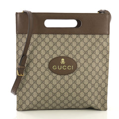 Gucci Neo Vintage Soft Tote GG Coated Canvas Medium Brown 4170077