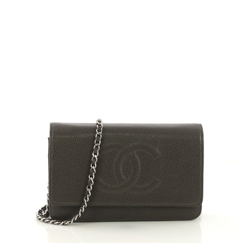 cfad9c0c79de Chanel Timeless Wallet on Chain Caviar Gray 4171202 – Rebag