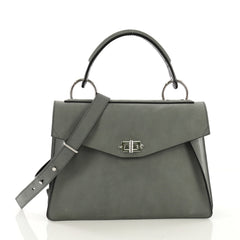 Proenza Schouler Hava Top Handle Bag Nubuck Medium Blue 4171203