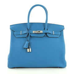 Hermes Birkin Handbag Verso Togo with Palladium Hardware 35 4172601