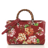 Gucci Bamboo Shopper Tote Blooms Print Leather Medium - Rebag