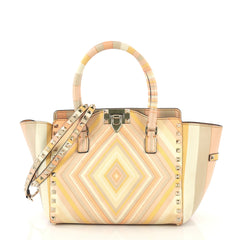 Valentino Rockstud 1975 Tote Striped Leather Small - Rebag