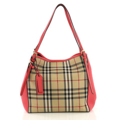 Burberry Canterbury Tote Horseferry Check Canvas and Leather 417295