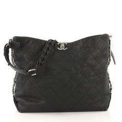 Chanel Braided With Style Hobo Quilted Grained Calfskin 417411