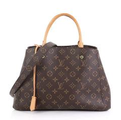 Louis Vuitton Montaigne Handbag Monogram Canvas MM