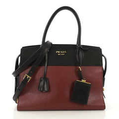 Prada Paradigme Bag Saffiano Leather with City Calfskin 417854