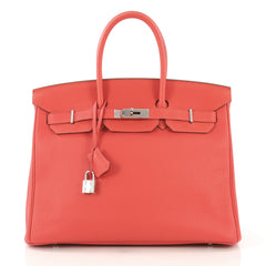 Hermes Birkin Handbag Pink Togo with Palladium Hardware 35 417884