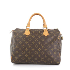 Louis Vuitton Speedy Handbag Monogram Canvas 30 Brown 417961