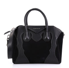 Givenchy Brogues Antigona Bag Leather and Suede Small Black 418051