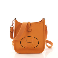 Hermes Evelyne Crossbody Gen III Clemence TPM Orange 418141