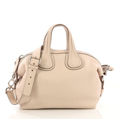 Givenchy Nightingale Satchel Waxed Leather Small Neutral 418536