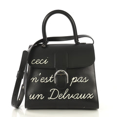 Delvaux Brillant Top Handle Bag Limited Edition Leather MM 418682