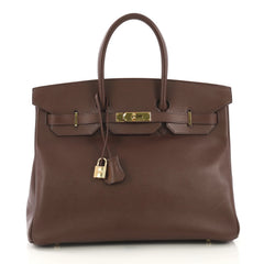 Hermes Birkin Handbag Brown Courchevel with Gold Hardware 4189117