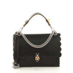 Fendi Kan I Bag Leather Medium Black 4189129