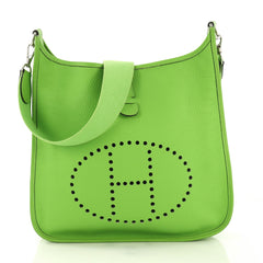 Hermes Evelyne Crossbody Gen I Clemence GM Green 4189168