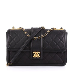 Chanel Elegant CC Flap Bag Quilted Lambskin Jumbo