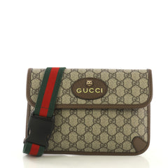 Gucci Animalier Flap Belt Bag GG Coated Canvas Brown 4190301