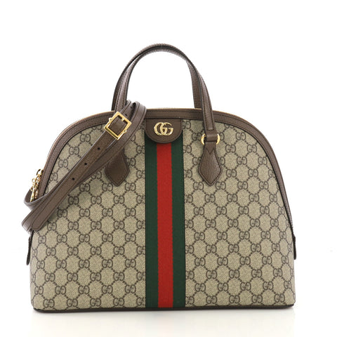 c2c3a02b89f Gucci Ophidia Dome Top Handle Bag GG Coated Canvas Medium 419071 – Rebag