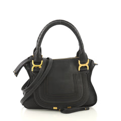 Chloe Marcie Satchel Leather Small Black 419191