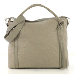 Louis Vuitton Antheia Ixia Handbag Leather PM Gray 419231
