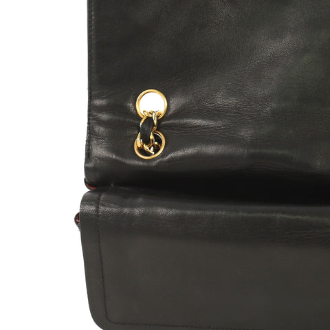 5f7c43186ff906 Chanel Vintage Two-Tone CC Flap Bag Quilted Lambskin Small 4192910 ...