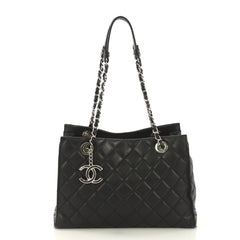 Chanel Chic and Soft Shopping Tote Quilted Calfskin Small 419296