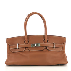 Hermes Birkin JPG Handbag Brown Clemence with Palladium 419297