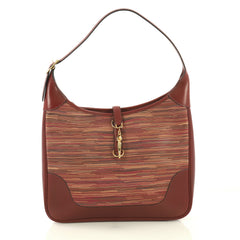 Hermes Trim II Bag Vibrato and Leather 31 Red 419298