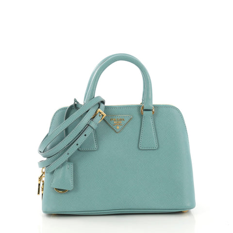 d64720fd3069 Prada Promenade Bag Saffiano Leather Small Blue 4195113 – Rebag