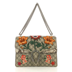 Gucci Dionysus Bag Embroidered GG Coated Canvas with Python 419512