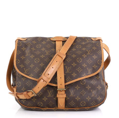 Louis Vuitton Saumur Handbag Monogram Canvas GM - Rebag