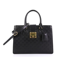 Gucci Padlock Convertible Tote Guccissima Leather Medium - Rebag