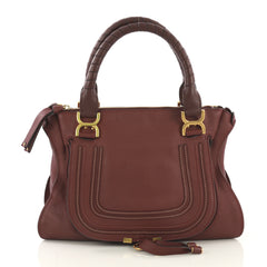 Chloe Marcie Shoulder Bag Leather Medium Red 4197118