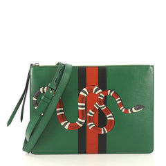 Gucci Web and Snake Messenger Bag Printed Leather Large 4197122