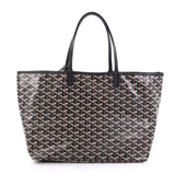 Goyard St. Louis Tote Coated Canvas PM Black 419715