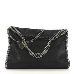 Stella McCartney Falabella Fold Over Bag Shaggy Deer Blue 419751