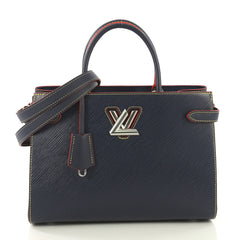 Louis Vuitton Twist Tote Epi Leather Blue 419901