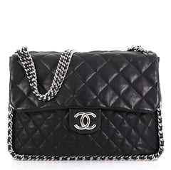 Chanel Model: Chain Around Flap Bag Quilted Leather Maxi Black 42042/2