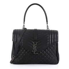 Saint Laurent Classic Monogram Envelope Satchel Quilted 420833