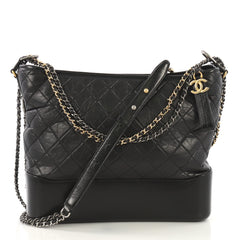 Chanel Model: Gabrielle Hobo Quilted Aged Calfskin Large Black 42125/1
