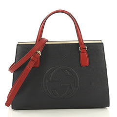 Gucci Soho Convertible Top Handle Satchel Leather Medium 421461