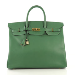 Hermes Birkin Handbag Green Courchevel with Gold Hardware 42196101